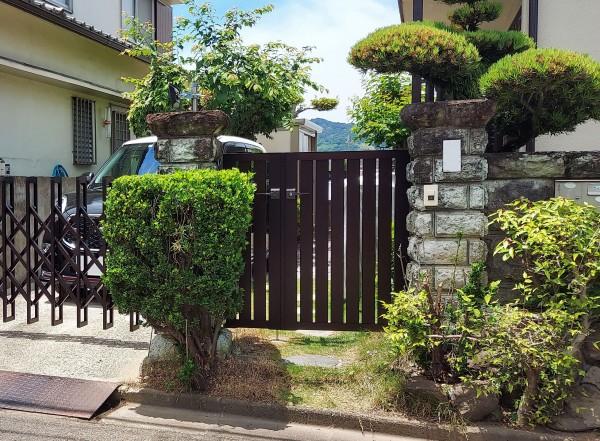 外構リフォーム 門扉設置 和歌山市1