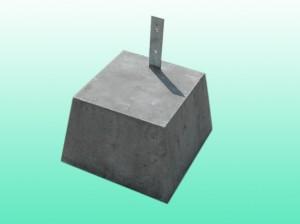 プレート付 束石3