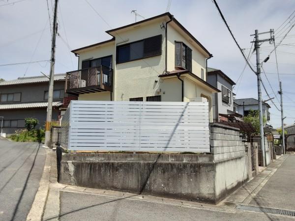フェンス レジリア YK3型 2段施工柱 三協アルミ かつらぎ町1