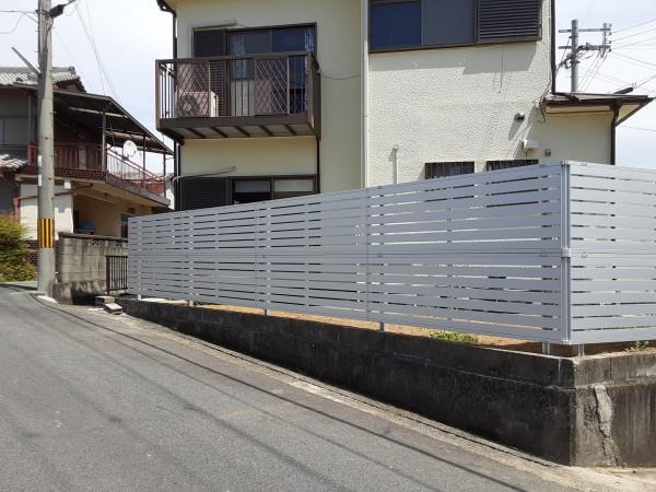 フェンス レジリア YK3型 2段施工柱 三協アルミ かつらぎ町4