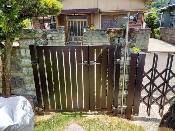 外構リフォーム 門扉設置 和歌山市4