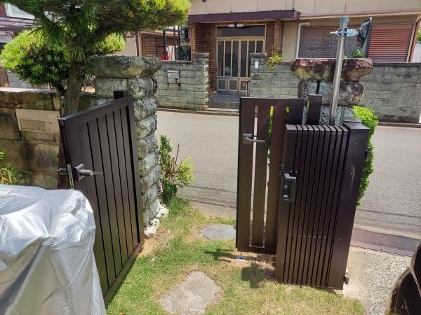 外構リフォーム 門扉設置 和歌山市7