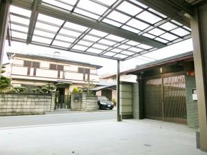 玄関廻りリフォーム ポーチ屋根新設工事 三協アルミ Uスタイル 9