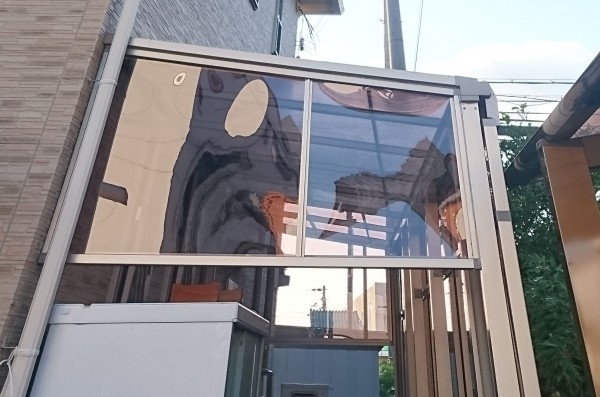 既設のテラスにサイドパネルを設置 和歌山市7