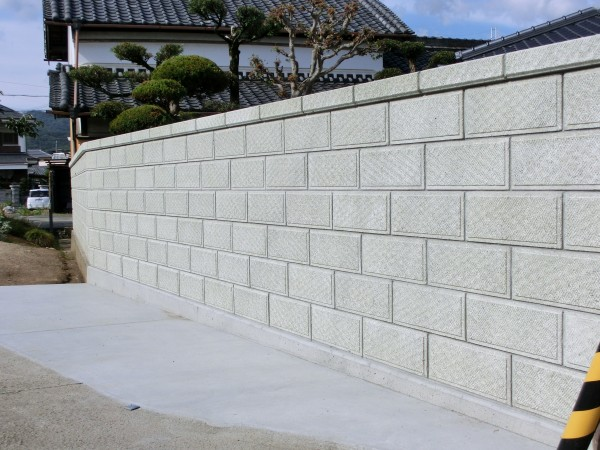 塀 和風化粧ブロック 岩出市1