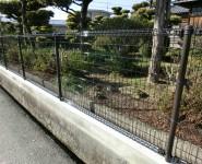 塀改修工事 メッシュフェンス 積水樹脂G0 岩出市