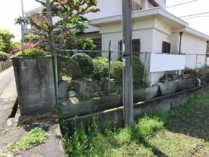 塀の傾き改修工事 境界コンクリートブロック積み 岩出市 5