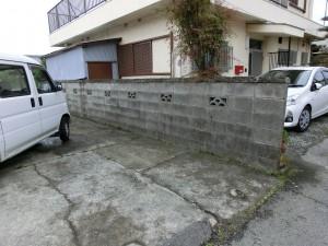 境界塀の傾き改修工事 LIXIL セレビューR6型フェンス 和歌山市 2