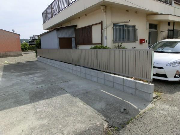 境界塀の傾き改修工事 LIXIL セレビューR6型フェンス 和歌山市 1