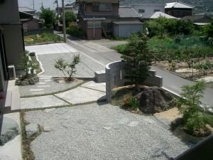 植栽:槙・もみじ・ヒイラギナンテン・お多福南天 紀の川市2