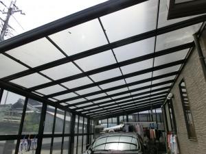 テラス屋根材貼り替え工事 紀の川市 2