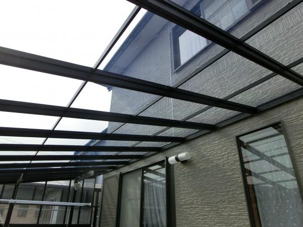 テラス屋根材貼り替え工事 紀の川市 1