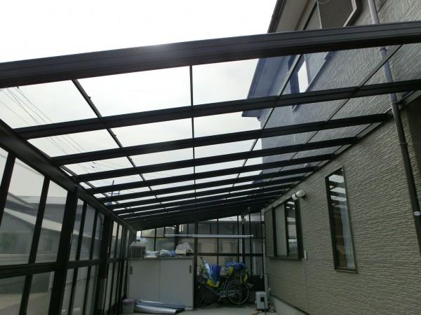 テラス屋根材貼り替え工事 紀の川市 4