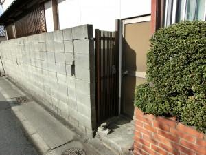 和風化粧ブロック TOYO 大谷600型 ミカゲ 浮彫ビシャン 和歌山市5