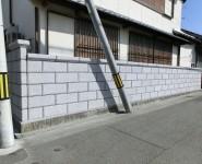和風化粧ブロック TOYO 大谷600型 ミカゲ 浮彫ビシャン 和歌山市