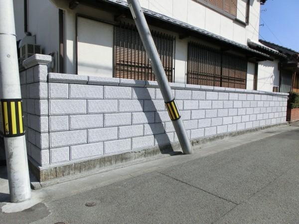 和風化粧ブロック TOYO 大谷600型 ミカゲ 浮彫ビシャン 和歌山市1