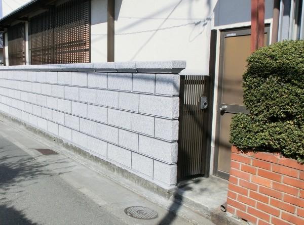 和風化粧ブロック TOYO 大谷600型 ミカゲ 浮彫ビシャン 和歌山市4