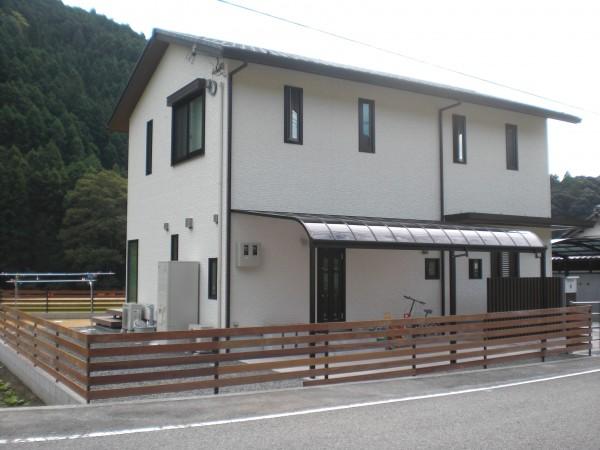 オリジナルイぺ材フェンス施工例 紀美野町1