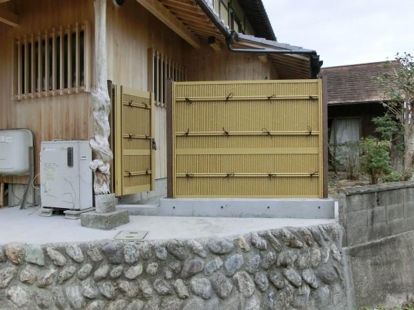 LIXIL 京香 清水垣 ユニット型 H1500 フェンスと扉 橋本市4
