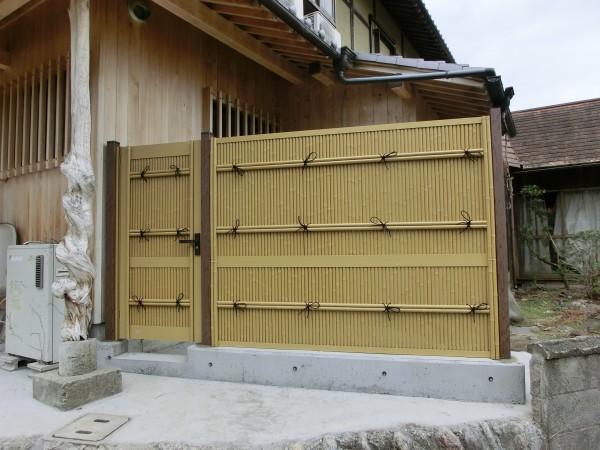 LIXIL 京香 清水垣 ユニット型 H1500 フェンスと扉 橋本市1