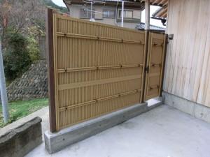 LIXIL 京香 清水垣 ユニット型 H1500 フェンスと扉 橋本市6