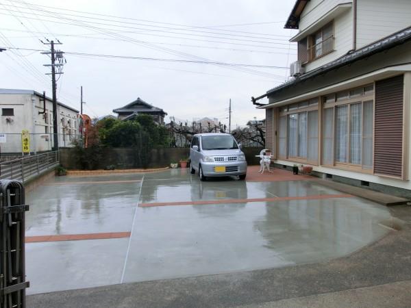 駐車スペース拡張工事 桃山町1