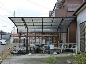 カーポート 屋根材貼り替え工事 岩出市2