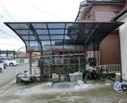 カーポート 屋根材貼り替え工事 岩出市