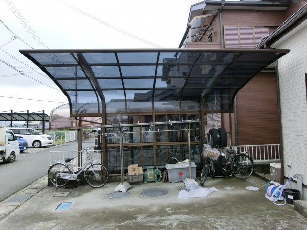 カーポート 屋根材貼り替え工事 岩出市1