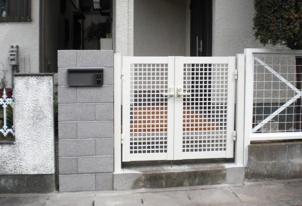 門柱・門扉改修工事 和歌山市1