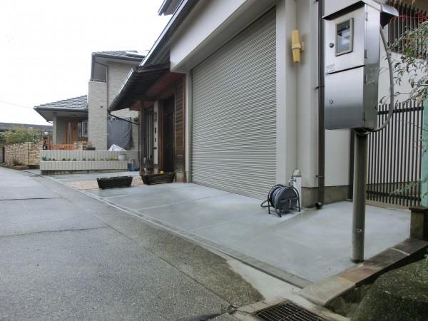 アプローチ・土間コンクリート リフォーム工事 和歌山市4