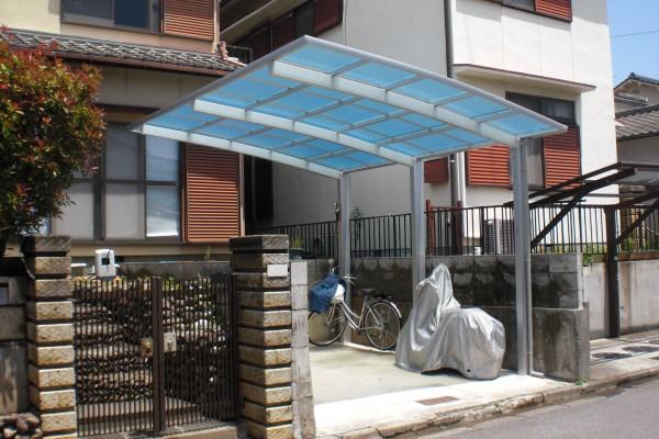 車庫改修工事 カーポート設置 和歌山市7