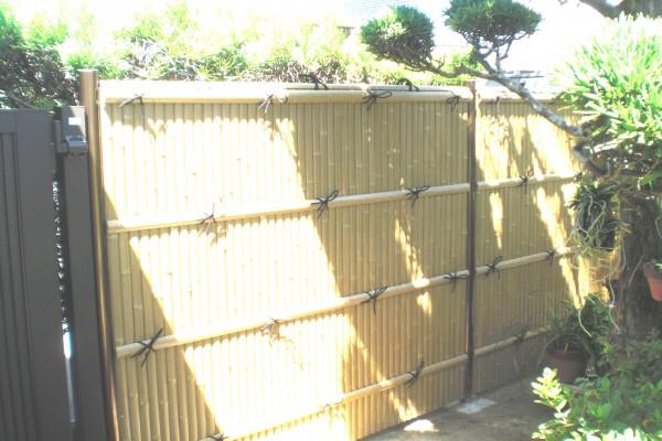 大和塀改修 竹垣・建仁寺垣設置 和歌山市7