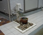 循環式の水栓柱 メダカを飼って、癒しの空間 岩出市