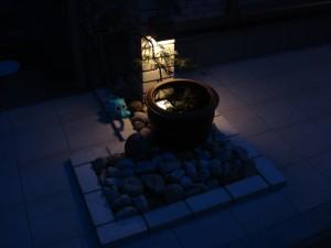 循環式の水栓柱 メダカを飼って、癒しの空間 岩出市2