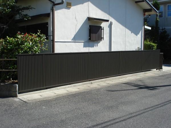 ブロック塀をフェンスに交換 軽量化 岩出市4