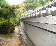 和風庭園の目隠し塀 本葺き塀瓦 紀の川市
