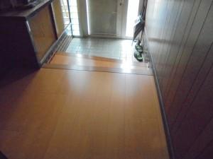 玄関・廊下 床リフォーム工事 紀の川市2