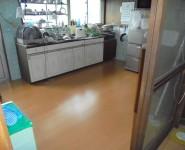 台所 床貼替え工事 紀の川市