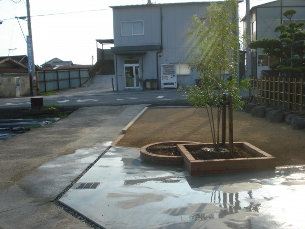 イブキの生垣を撤去して庭の改修 明るい庭になりました。4