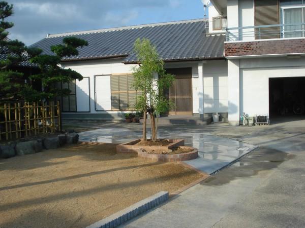 イブキの生垣を撤去して庭の改修 明るい庭になりました。7