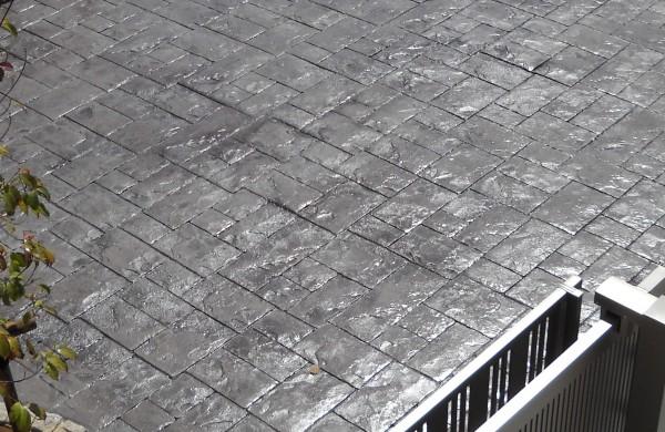 スタンプコンクリート おしゃれな土間コンクリート7