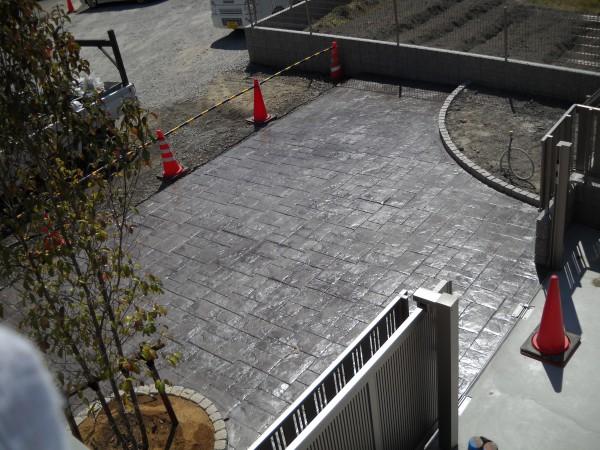 スタンプコンクリート おしゃれな土間コンクリート4