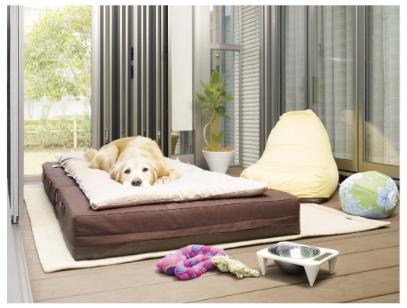 小型犬・大型犬用マット 消臭効果 ひばdeロール 1