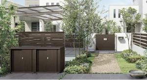 ガーデンストレージ LIXIL カーポートやテラスにもマッチする、モダンスタイルのエクステリア収納庫3