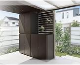 ガーデンストレージ LIXIL カーポートやテラスにもマッチする、モダンスタイルのエクステリア収納庫1