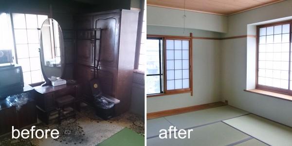 和室リフォーム Before & After1