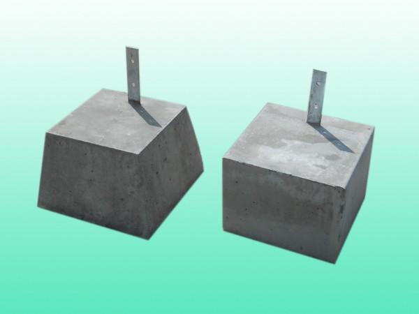 プレート付 束石1