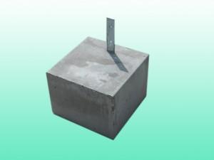 プレート付 束石4