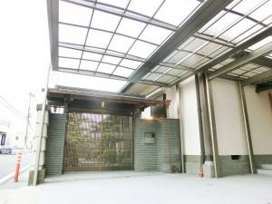 玄関廻りリフォーム ポーチ屋根新設工事 三協アルミ Uスタイル 8